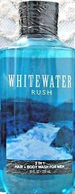 Bath & Body Works ~ WHITEWATER RUSH ~ 2 in 1 Hair and Body Wash Shower Gel 10 oz