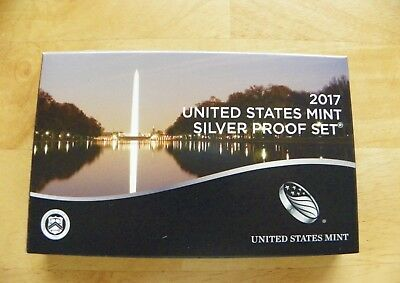 2017 United States Mint Silver Proof Set - Coa And Mint Packaging