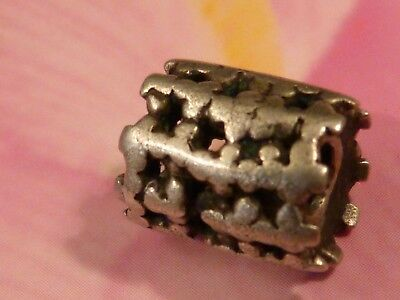 ANTIQUE MIDDLE EAST. SILVER BEAD HEAVY COMPLEX WORN 11.6 BY 9 MM  pumtekman