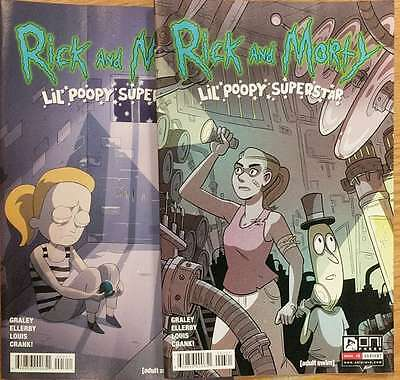 Rick and Morty Lil Poopy Superstar #3 Reg & Variant Graley Oni Comic Book NM  wh