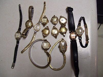 13 Vintage Bulova Gold Filled Ladies Watches Watch lot