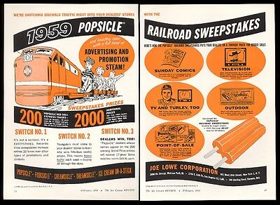 1959 Popsicle Fudgsicle Creamsicle Dreamsicle ice cream dealer trade print ad