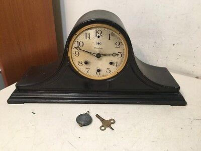 Rare Antique Waterbury Westminster Chime Tambour Mantle Clock