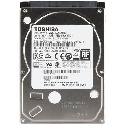"1TB 2.5"" 5200RPM Internal Notebook Hard Drive Toshiba MQ01ABD100 XC5680"