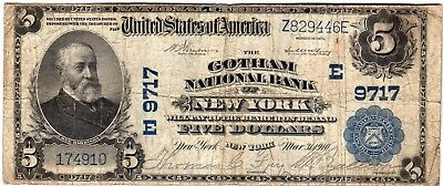 $5 1902 Pb The Gotham National Bank Of New York Ch#9717