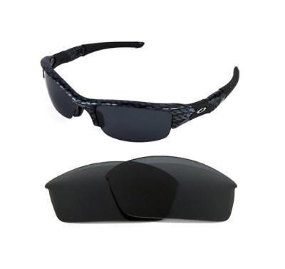 ce54252557 New Polarized Replacement Black Lens For Oakley Flak Jacket Sunglasses