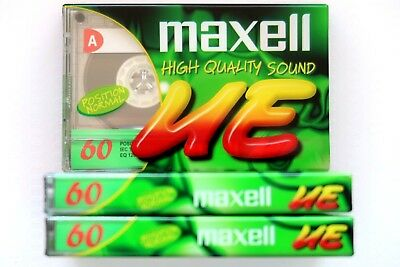 3 X Maxell Ue 60 Normal Position Type I Blank Audio Cassette Tapes