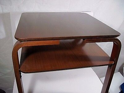 Unique Mid Century Modern Wood Danish Modern table Marked Denmark MCM Very nice!