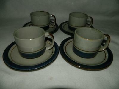 4 Otagiri Hand Crafted Mariner Cup & Saucer Sets Japan Free Ship A