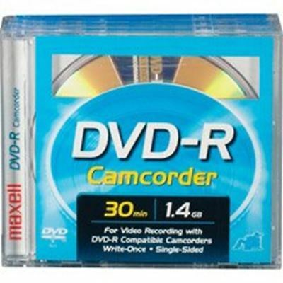 """Maxell DVD-R-CAM-PANA 3"""" DVD-R Round Cartridges for Panasonic and Late Model Hit"""