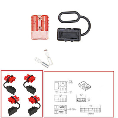 4x 50A Battery Connect Disconnect Tool Winch Trailer Electrical Wire Harness Kit