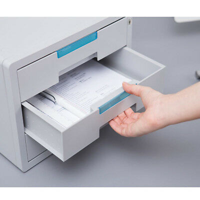 Security Key File Cabinet 3 Drawers A4 Filing Cabinet Files Storage Small Box