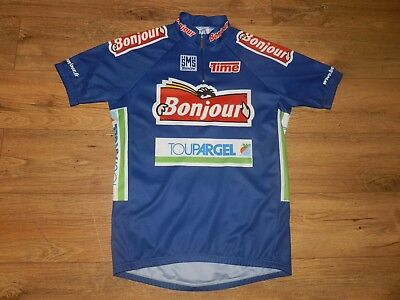 Maillot cycliste Bonjour SMS Santini Time Vélo Cycling vintage - XL