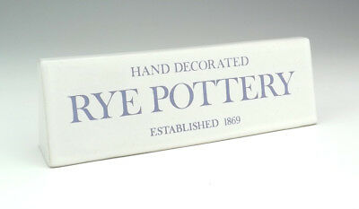 Vintage Rye Pottery - Advertising Shop Display Plaque