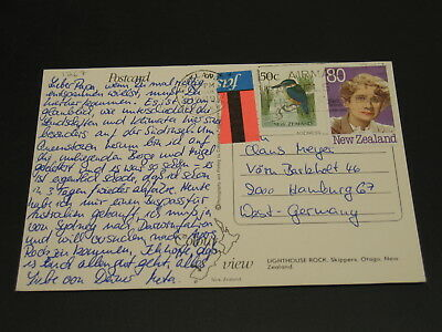 New Zealand 1989 airmail postcard to Germany *1267