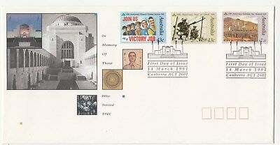 1991 In memory of those who Served set of 3. First day cover. Clean & Cheap