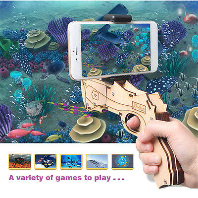 Augmented Reality AR GUN Game Toy Gun for iPhone & Android with Phone Holder