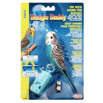 Hagen Budgie Buddy Toy with Sound  - motion sensor activated - BLUE Parakeet
