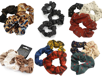 Set of 3 Ladies Womens Girls Hair Scrunchies Bobbles  Elastics Hair Scrunchy