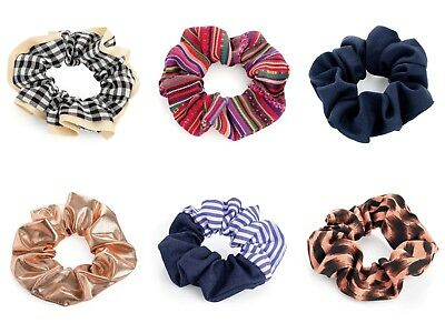 Ladies Womens Girls Hair Scrunchies Bobbles Elastics Hair Scrunchy Accessories