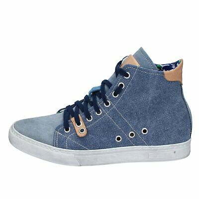 BY99 KTL BY CORAF shoes blue textile suede men sneakers EU