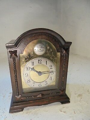 Antique Oak  cased  Mantel  Clock  ,