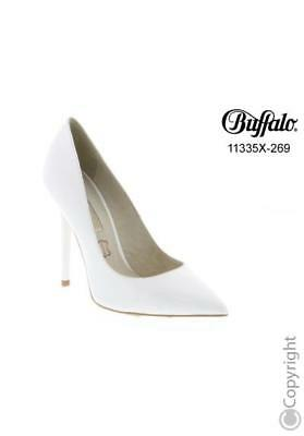 Buffalo Pumps High Heels weiß Lackleder Echtleder Gr.37,38,39,40,41
