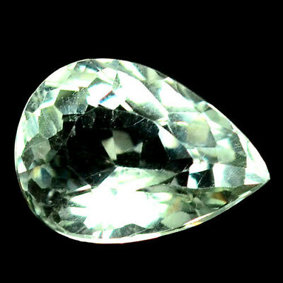 4.86 Ct Aaa! Natural! Light Green Uruguay Amethyst Pear