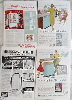 LOT 14 VINTAGE GM FRIGIDAIRE ADS ADVERTISING 1940's  NATIONAL GEOGRAPHIC