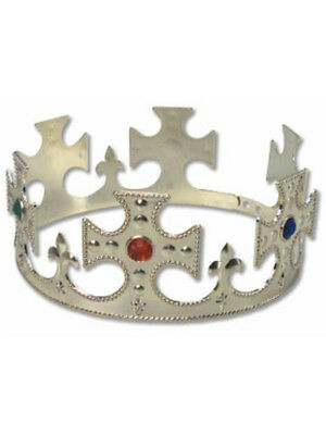 New Royal Gala King's Crown with Jewels and Crosses