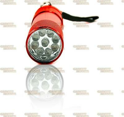 Mini Ultra Bright Aluminium 9 Led Pocket Light Flashlight Camping Torch