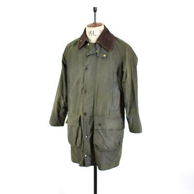 Men's BARBOUR GAMEFAIR Green WAXED COTTON Outdoor Sports Farmer Coat Jacket 36