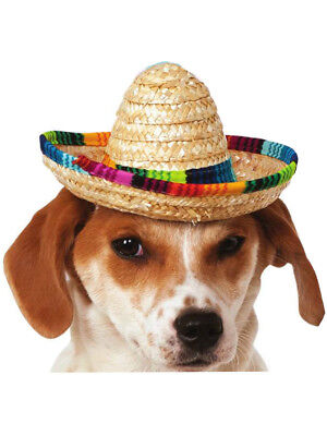 Mini Multicolor Sombrero Hat For Pet Dog Costume Accessory