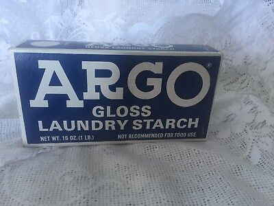 Vintage Box Argo Laundry Starch Gloss Unopened