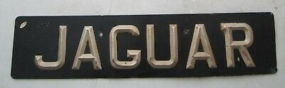 VINTAGE Jaguar Ace Peak Plate Dealership METAL Sign Showroom Dealership GARAGE