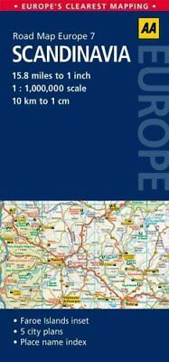 7. Scandinavia AA Road Map Europe by AA Publishing 9780749575359