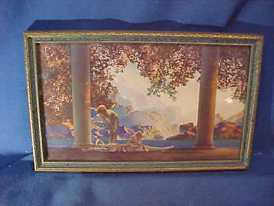 Orig 1920s MAXFIELD PARRISH Illustrated Small DAYBREAK Framed PRINT 10 x 6