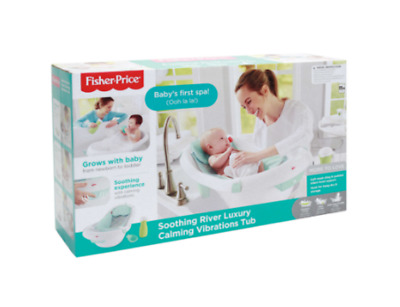 Fisher-Price Soothing River Luxury Calming Vibrations Tub, Baby Infant Toddler