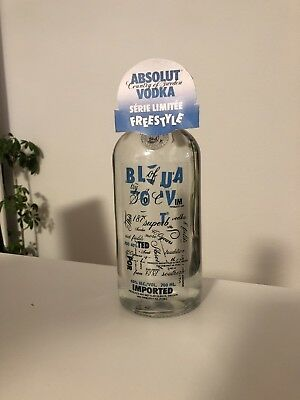 Absolut Vodka Freestyle mit Tag Selfmade 700ml Folie Foil