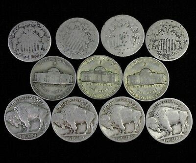 US Collectible Nickel Set with Shield Buffalo & War Coins Lot #C15