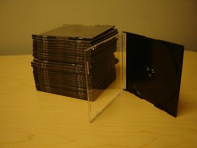 CD / DVD thin jewel  cases - quantity of 25  Black
