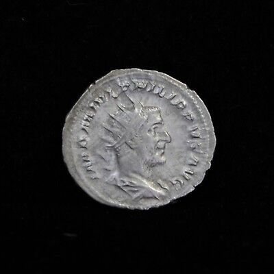 Ancient Silver Coin Roman Empire Philip I AD 244-247