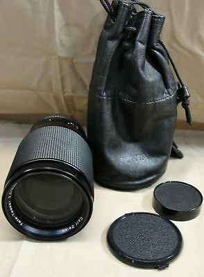 CARL ZEISS TELE-TESSAR T* 3.5 200mm CAMERA LENS FOR CONTAX W/LEATHER CARRY POUCH