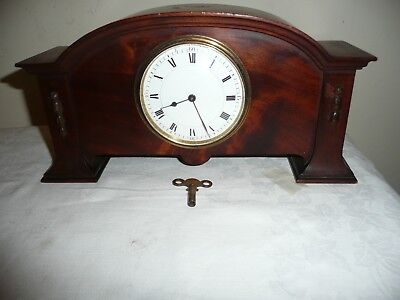 Antique, French  Mantle Clock in Beautiful Mahogany Case, Working Order.