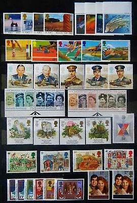 GB 1986 Complete Commemorative Year Sets ( 10 ) - Mint not Hinged.