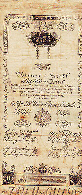 2 Gulden Vg Banknote From Austrian Empire  1800!pick-A30