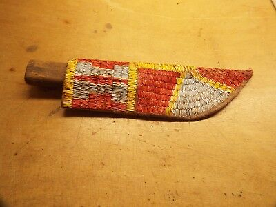 1800S  Native American  Indian Quilled Sheath With Knife