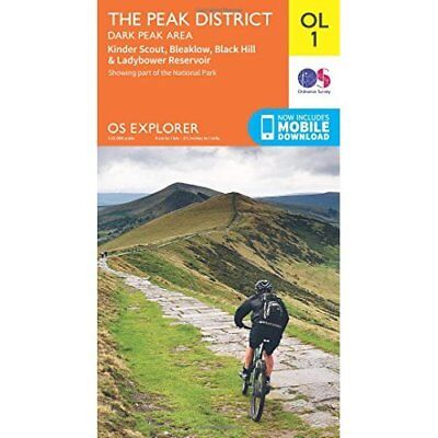 OS Explorer OL1 The Peak District, Dark Peak area (OS E - Map NEW Survey, Ordnan