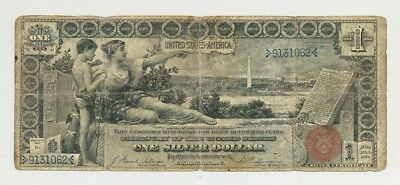 $1 Series 1896 Educational Silver Certificate in circulated condition