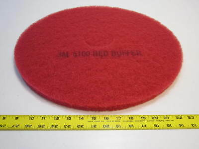 "19"" Red Polyester Buffing And Floor Cleaning Pads Pack Of 5 NEW"
